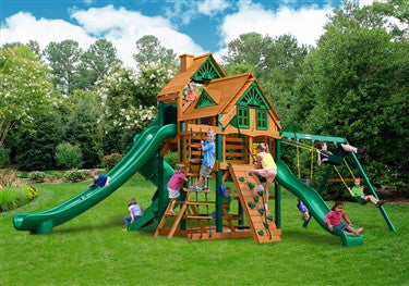 Gorilla Playsets Great Skye 2 Treehouse Swing Set