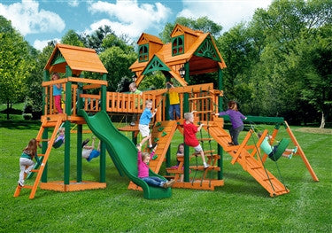 Gorilla Playsets Malibu Pioneer Peak Swing Set