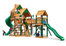 Gorilla Playsets Treasure Trove  w/ Standard Wood Roof Swing Set