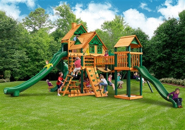 Gorilla Playsets Treasure Trove 2 Treehouse Swing Set