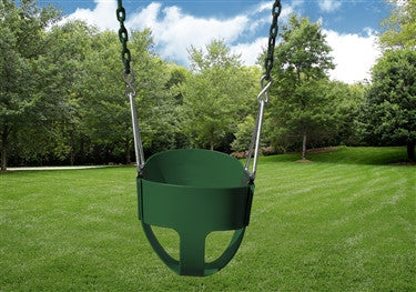 Full Bucket Toddler Swing- green