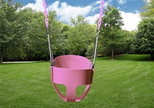 Full Bucket Toddler Swing- Pink/Cotton Candy