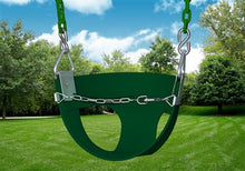 Half Bucket Toddler Swing- green