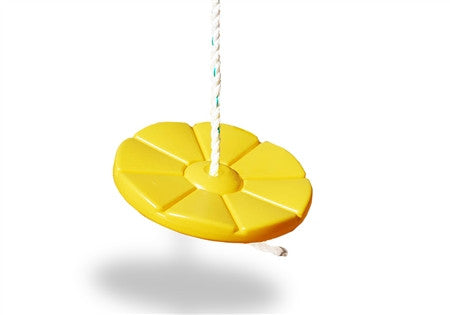 Disc Swing with Rope - Yellow