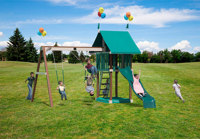 Poly Lovely Retreat Swing Set
