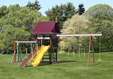 Poly Jolly Jump Swing Set