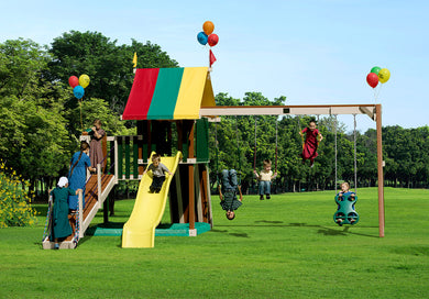 Poly Golden Retreat Swing Set