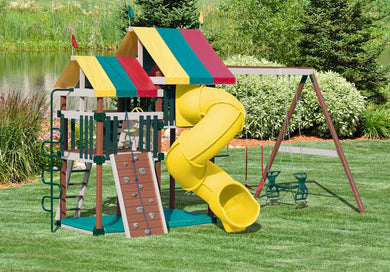 Poly Dizzy Delight Swing Set
