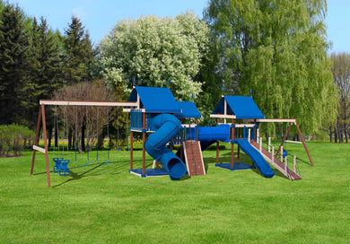 Poly Excitement Unlimited Swing Set