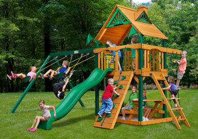 Gorilla Playsets Chateau Swing Set