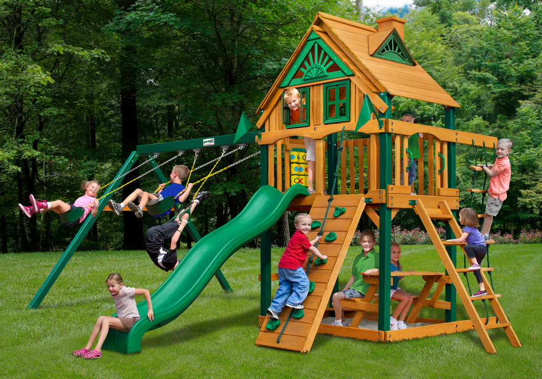 Gorilla Playsets Chateau Treehouse Swing Set