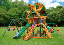 Gorilla Playsets Frontier w/Malibu Wood Roof Swing Set