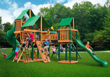 Gorilla Playsets Treasure Trove  w/ Sunbrella Canvas Forest Green canopy