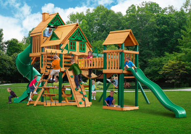 Gorilla Playsets Treasure Trove Treehouse Swing Set