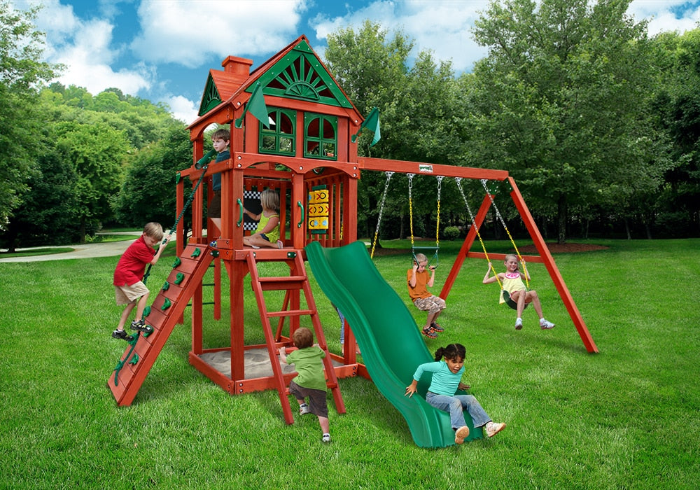 Gorilla Playsets Five Star II Swing Set with Monkey Bars