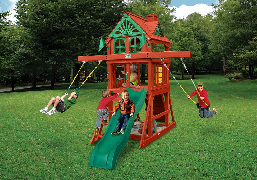 Gorilla Playsets Five Star II Space Saver Swing Set