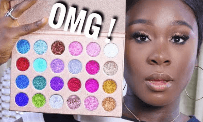 ALL-DAY SLAY MAKEUP WITH SIMPLE GLITTER CUT CREASE TUTORIAL