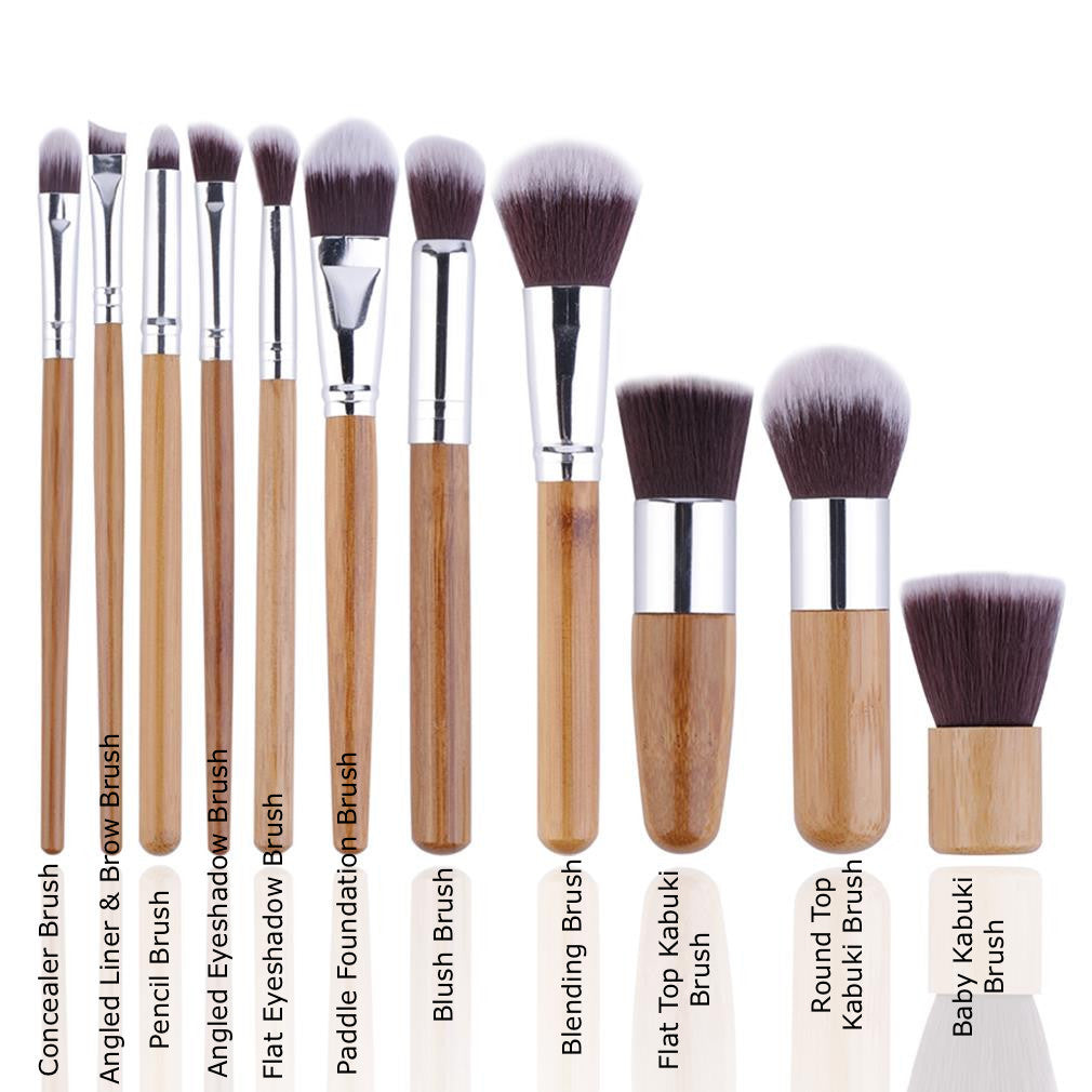 e6d994d467de Here s how make up pros like Brit agree on using the 11 pieces you get in  this brush set