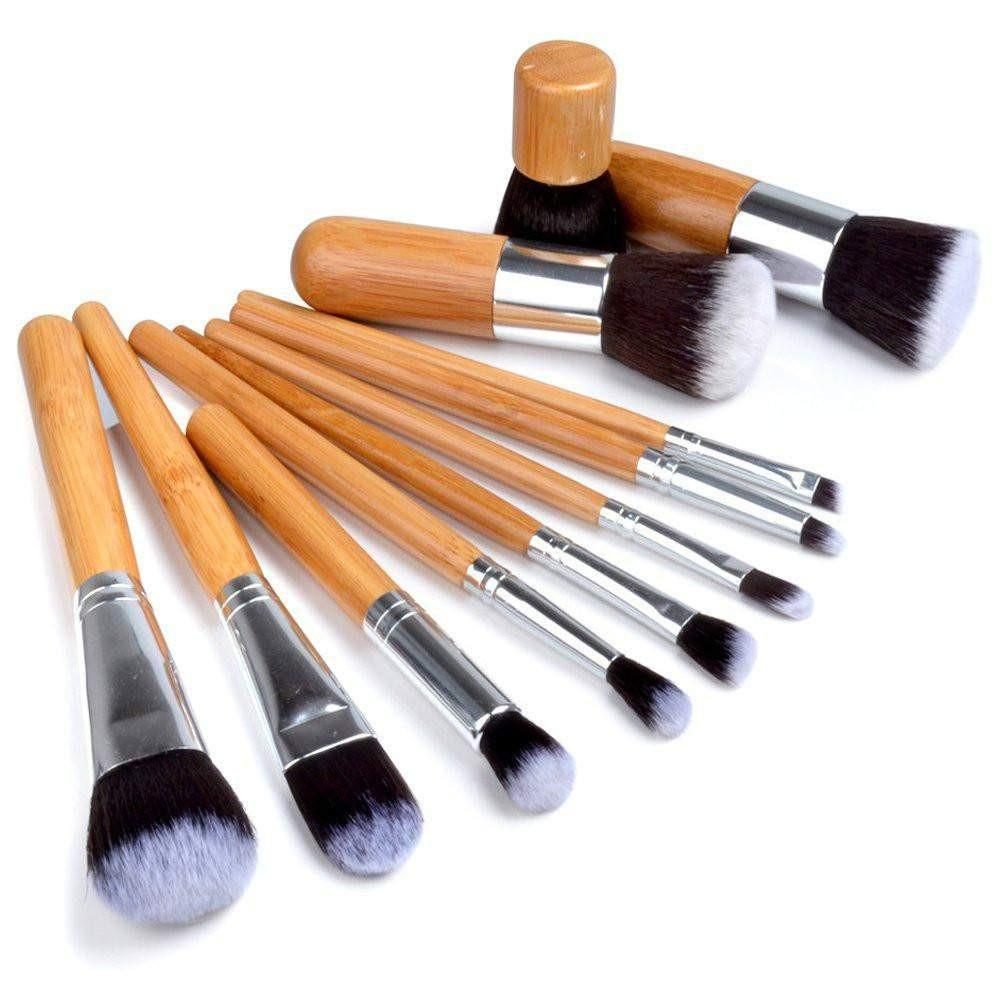 Morphe 694 15 Piece Wooden Handle Brush Set With Cheetah Snap Case ...