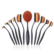 Oval Makeup Brushes - Black