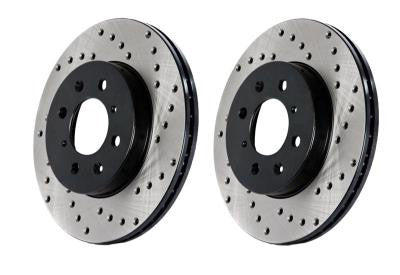 Stoptech 300ZX Direct Replacement Rotors - Rear Pair Drilled 128.42047 (90-96 NISSAN 300ZX)