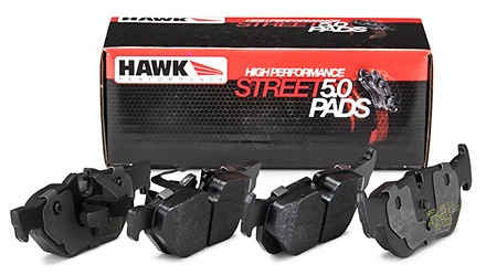 Hawk Performance High Performance Street 5.0 Brake Pads, Rear HB179B.630 (90-96 NISSAN 300ZX)
