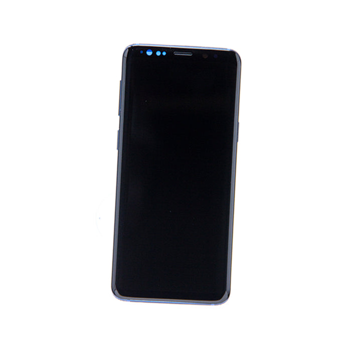 Samsung Galaxy S9 Display Assembly with Frame - Coral Blue