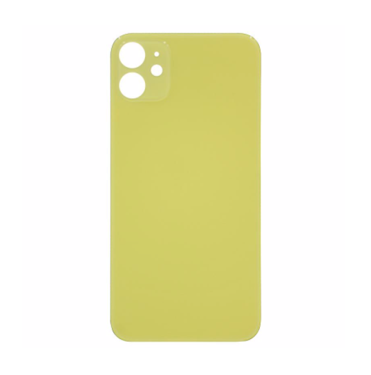 iPhone 11 Back Glass No Logo - Yellow (Large Hole)