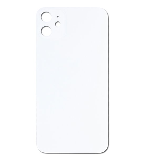 iPhone 11 Back Glass No Logo - White