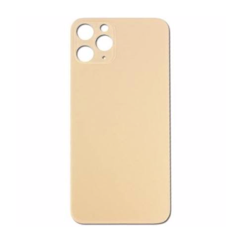 iPhone 11 Pro Max Back Glass No Logo - Gold (Large Hole)