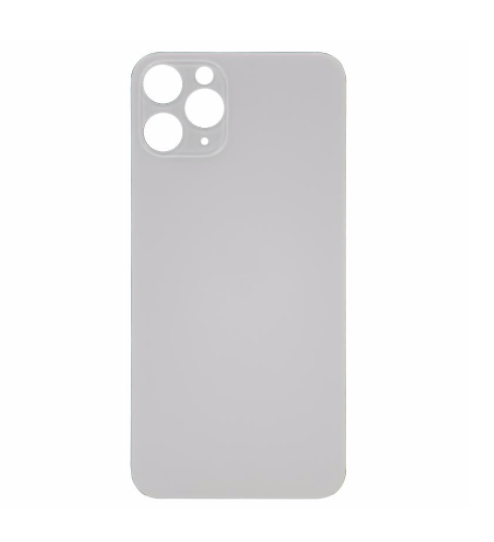 iPhone 11 Pro Max Back Glass No Logo - White (Large Hole)