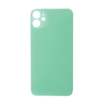 iPhone 11 Back Glass No Logo - Green (Large Hole)