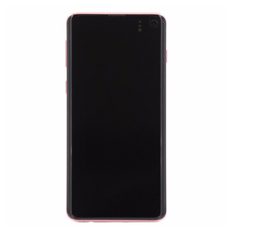 Samsung Galaxy S10 Display Assembly with Frame - Flamingo Pink