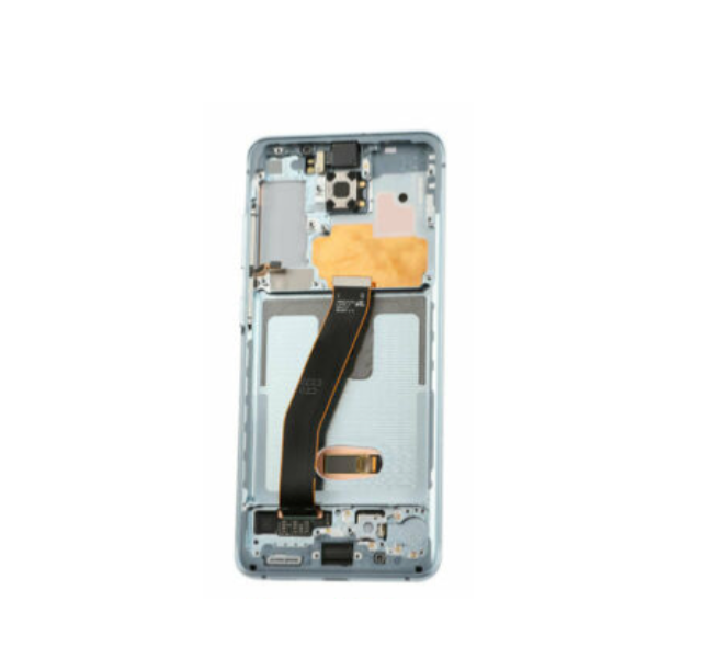 Samsung Galaxy S20 Display Assembly with Frame - Cloud Blue