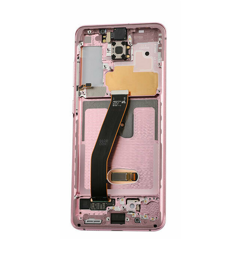Samsung Galaxy S20 Display Assembly with Frame - Cloud Pink