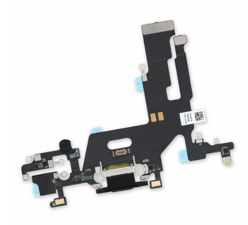 iPhone 11 Charging Port Flex W/Motherboard Soldered - Black