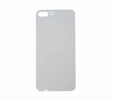 iPhone 8 Plus Back Glass No Logo - Silver (Large Hole)