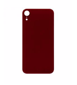 iPhone XR Back Glass No Logo - Red (Large Hole)