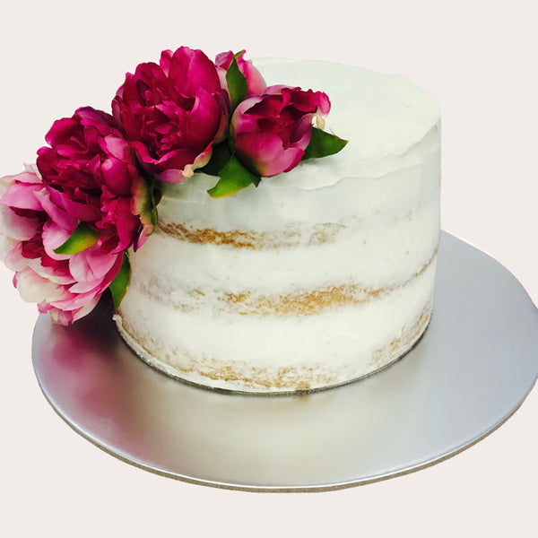 Three Tier Vanilla Naked Cake