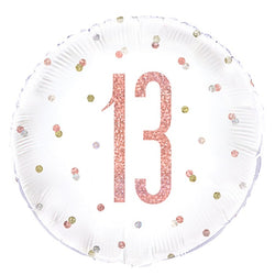 13th Happy Birthday | Rose Gold 18
