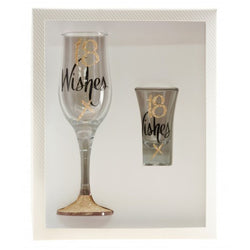 Champagne & Shot Glass Set | Wishes