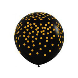 Patterned Black & Gold Spotted Balloon | 90cm