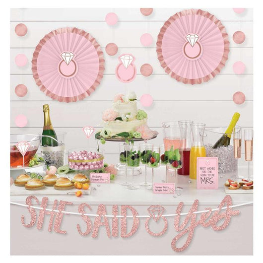 Bridal Shower | Blush Diamond | Decoration Kit