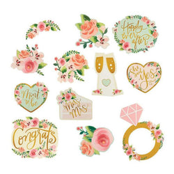 Bridal Shower | Mint Floral | Decoration Cutouts