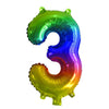 Air Filled Foil | 35cm | Rainbow Numbers