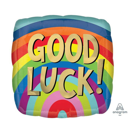 Good Luck Striped Square | Foil Balloon