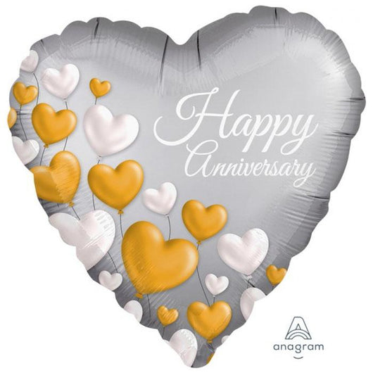 Happy Anniversary | Heart Foil Balloon
