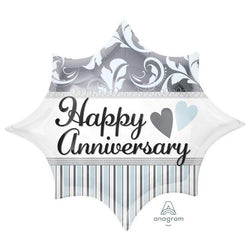 Happy Anniversary | Star Foil Balloon
