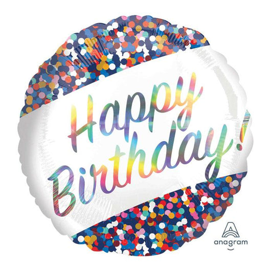 Happy Birthday Rainbow Confetti | Foil Balloon