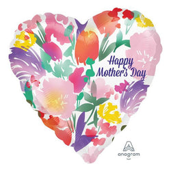 Happy Mother's Day Floral Heart | Foil Balloon